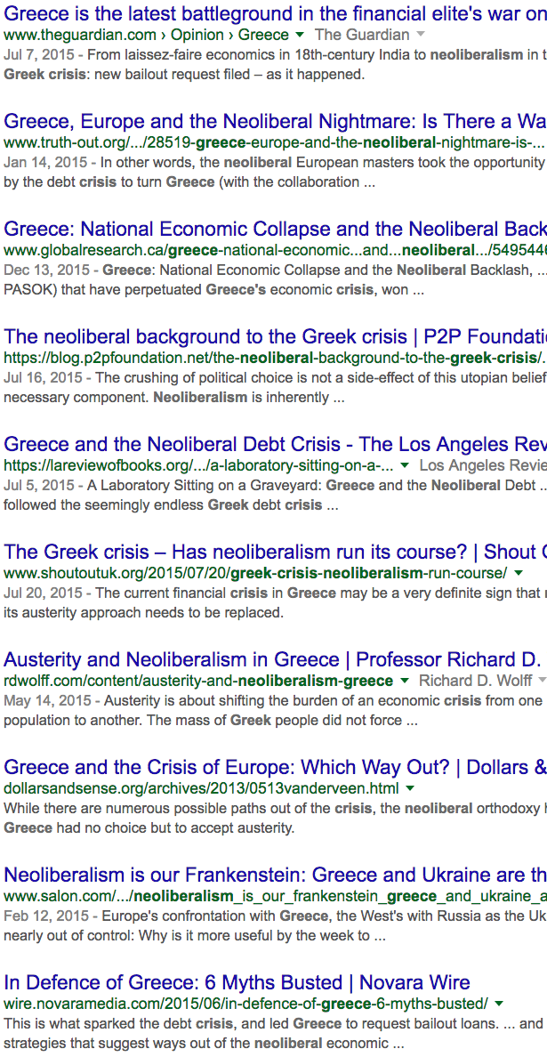 The Left, Greece, and The Big Lie